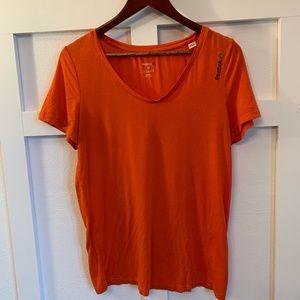 Women's Orange Reebok T-Shirt- size M